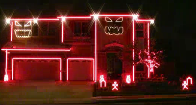 Forget Christmas Lights - Halloween Light Show!